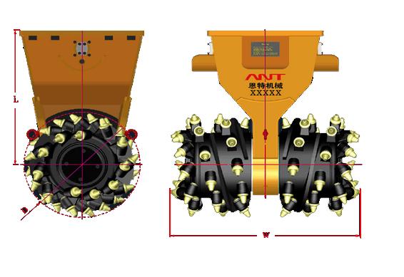 AF-20RW横向铣挖机